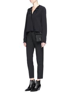 rag & bone'Verna' drawstring neck silk blouse