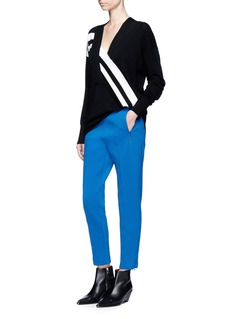 rag & bone'Grace' surplice neck stripe wool sweater