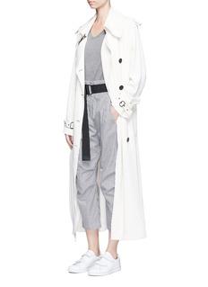 rag & bone'Bosworth' stripe belt cropped pants