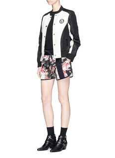 rag & bone 'Lennox' ribbon trim floral print shorts