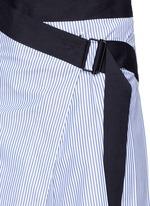 'Lenna' asymmetric stripe wrap skirt