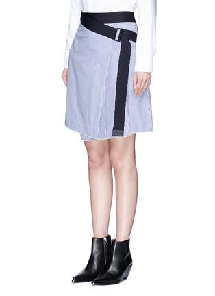 Front View - Click To Enlarge - rag & bone - 'Lenna' asymmetric stripe wrap skirt