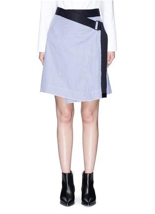Main View - Click To Enlarge - rag & bone - 'Lenna' asymmetric stripe wrap skirt