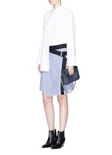rag & bone'Lenna' asymmetric stripe wrap skirt