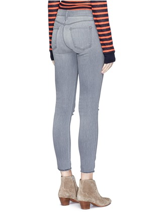 Back View - Click To Enlarge - J Brand - Low rise distressed cropped skinny jeans