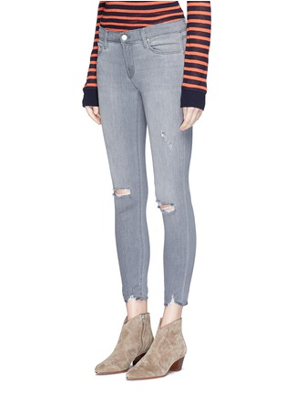 Front View - Click To Enlarge - J Brand - Low rise distressed cropped skinny jeans