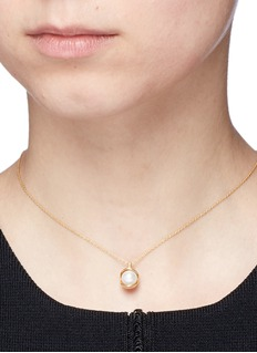 Obellery 'Fruity' 18k yellow gold plated freshwater pearl necklace