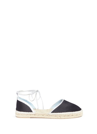Main View - Click To Enlarge - Frances Valentine - 'Jane' satin d'Orsay ankle tie espadrilles