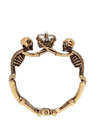 Main View - Click To Enlarge - Alexander McQueen - Skeleton faux pearl crown cuff