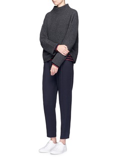 Vince Horizontal rib knit funnel neck sweater