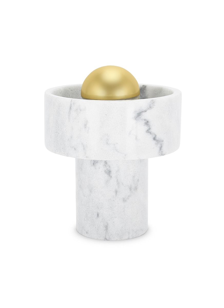 Stone table lamp by Tom Dixon