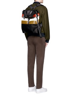 Ghurka'Claudio' stripe print backpack