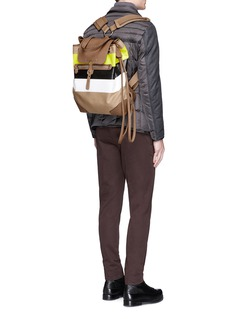 Ghurka'''Claudio' stripe print backpack