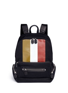 Ghurka 'Weston II' stripe print backpack
