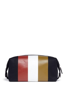 Ghurka 'Holdall No.101' stripe print wash bag