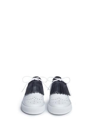 Robert Clergerie-'Tolk' detachable kiltie leather brogue sneakers