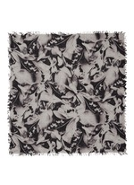 'Wendy' photographic floral print cashmere-silk scarf