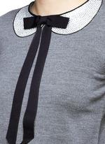 'Jensyn' strass collar intarsia neck tie wool sweater