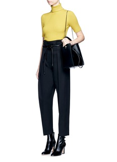 3.1 Phillip Lim Origami pleat tie waist cropped pants