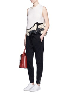 3.1 Phillip Lim Quilted French terry jogging pants