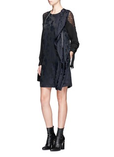 3.1 Phillip Lim Floral jacquard drape trim dress