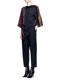 3.1 Phillip LimCascading ribbon trim floral print kimono top