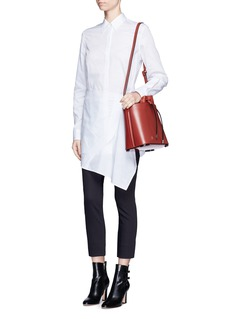 3.1 Phillip Lim Asymmetric apron cotton shirt dress
