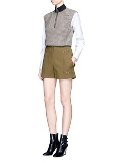 3.1 Phillip LimHoundstooth wool sleeveless boxy top