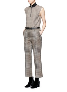 3.1 Phillip Lim Houndstooth virgin wool cropped pants