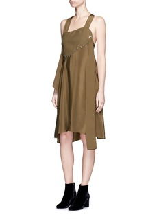 3.1 Phillip Lim Stapled chest panel silk dress
