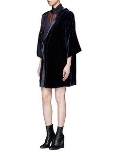 3.1 Phillip Lim 'Ginkgo' leaf sequin velvet mock kimono dress