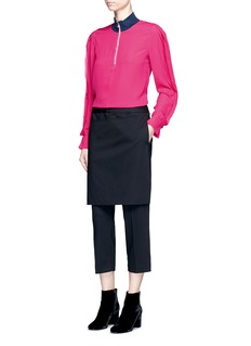 3.1 Phillip LimCascading ribbon trim silk crepe blouse