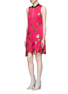 3.1 Phillip Lim 'Ginkgo' leaf sequin scalloped hem shift dress
