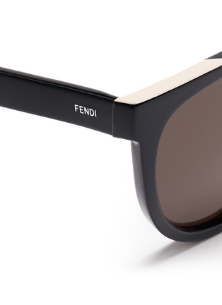 Detail View - Click To Enlarge - Fendi - Colourblock acetate round cat eye sunglasses