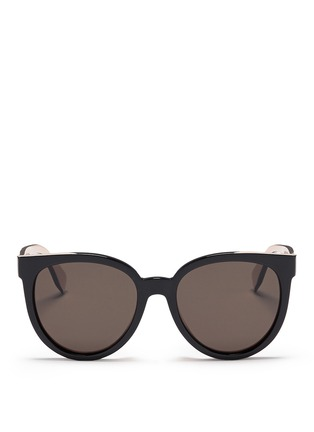 Main View - Click To Enlarge - Fendi - Colourblock acetate round cat eye sunglasses