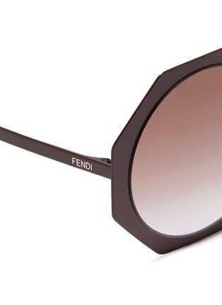 Fendi - 'Fendi Facets' matte metal octagon sunglasses