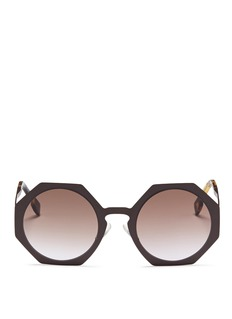 Fendi 'Fendi Facets' matte metal octagon sunglasses