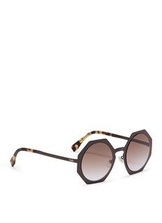 Fendi'Fendi Facets' matte metal octagon sunglasses