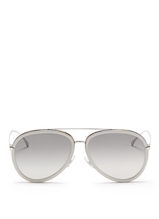 Fendi 'Funky Angle' acetate rim metal aviator sunglasses