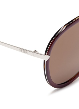 Detail View - Click To Enlarge - Fendi - 'Funky Angle' acetate rim metal aviator sunglasses