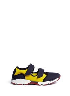 MarniColourblock double strap sneakers