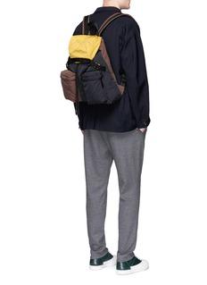MarniColourblock padded backpack