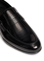 'Downing' patent leather penny loafers