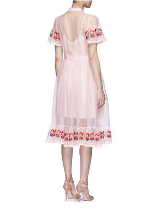 Back View - Click To Enlarge - Temperley London - 'Elette' floral embroidery silk organza dress