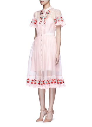 Figure View - Click To Enlarge - Temperley London - 'Elette' floral embroidery silk organza dress