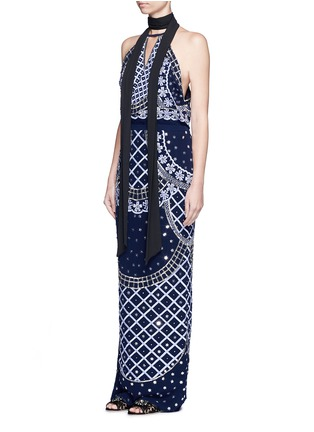Figure View - Click To Enlarge - Temperley London - 'Kekipi' star embellished silk halter dress