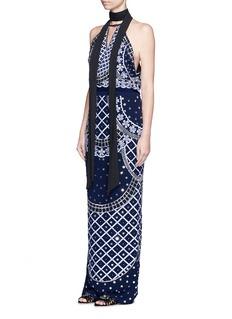 Temperley London'Kekipi' star embellished silk halter dress