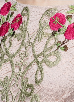 Detail View - Click To Enlarge - Temperley London - 'Antila' floral embroidery French lace dress