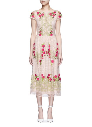 Main View - Click To Enlarge - Temperley London - 'Antila' floral embroidery French lace dress