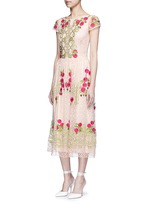'Antila' floral embroidery French lace dress